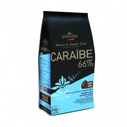 Dark Chocolate Couverture Caraibe 66% Buttons (3kg)